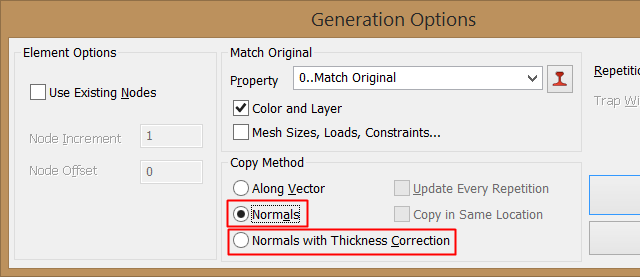 Copiar Elementos Normal al Elemento