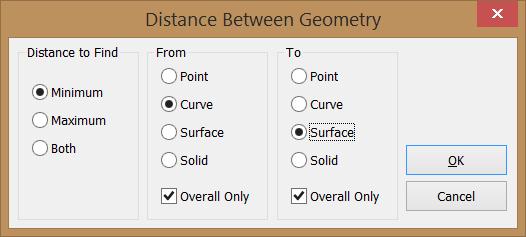 Medir Distancia entre Geometría